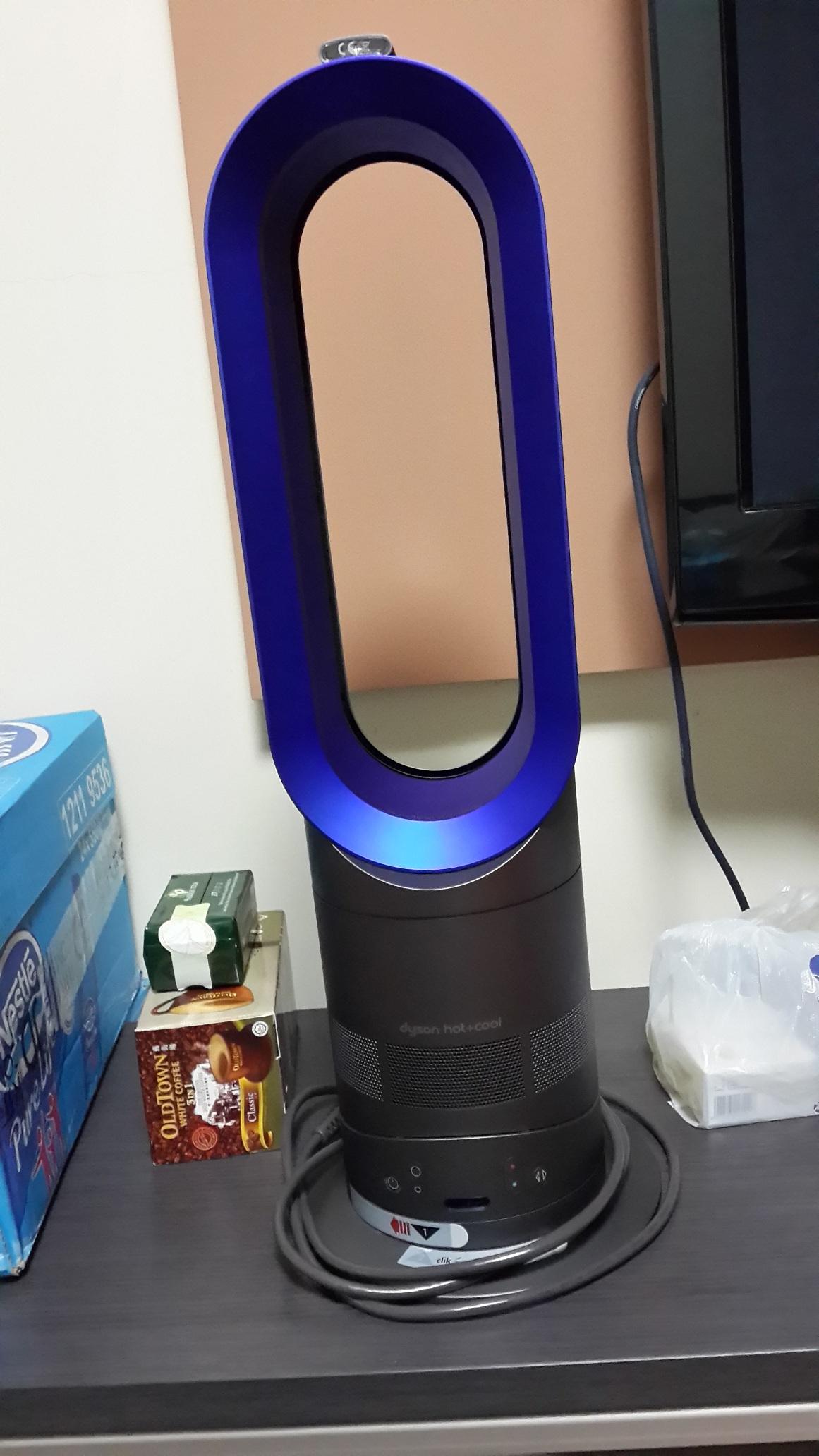 【包邮】现货美版dyson戴森am05冷暖型无页风扇 黑蓝色